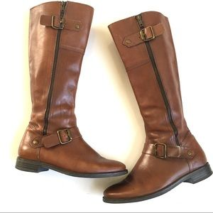 Aldo Brown Leather Knee High Riding Boots